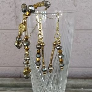 2 Bracelet and Earring Set